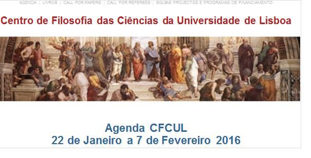 Agenda 22 de Janeiro a 7 de Fevereiro