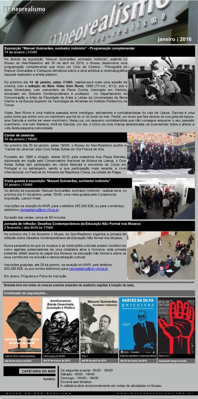 newsletter Janeiro de 2016