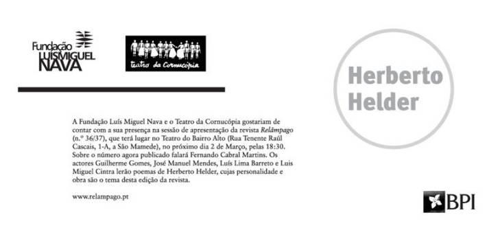 Homenagem a Herberto Helder