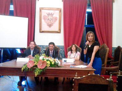 Inauguración. M. Cayetano, M. Condenado, Sandra São Pedro y Ana Rocha