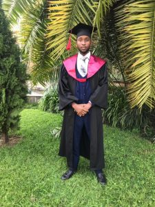 Blaise on his graduation.