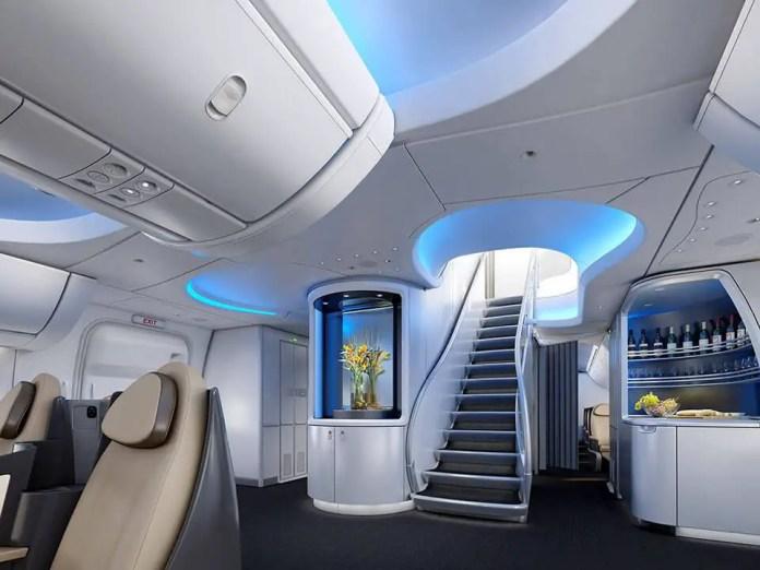 way to upper deck 747