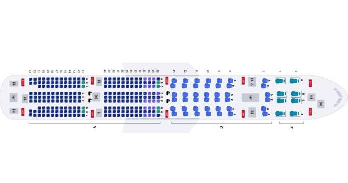 korean air boeing 777 300er seat map aviatechchannel
