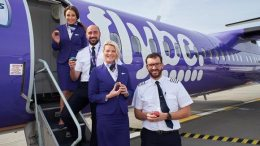 Heathrow celebrates Flybe's first anniversary at the airport 24