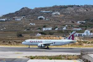 Qatar Airways touches down at Mykonos International Airport in Greece 10