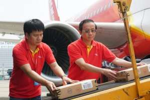 Love Jet flight lands in Indonesia with relief aid