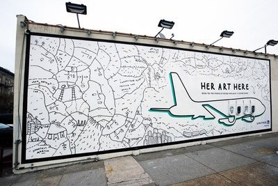 United Airlines giving women artists a larger than life canvas 7