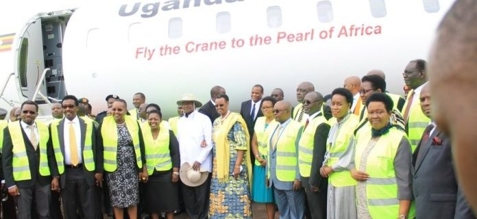 Uganda Airlines' long-awaited new planes land at Entebbe International Airport 10