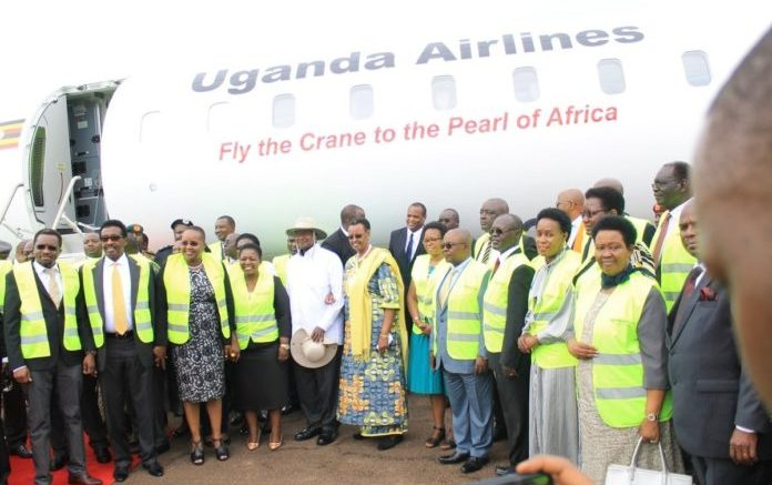 Uganda Airlines' long-awaited new planes land at Entebbe International Airport 1
