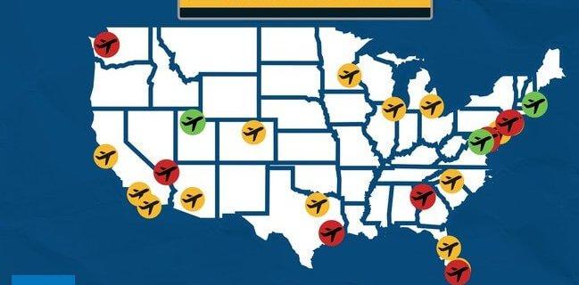 Study: Longest and shortest TSA security wait times across the nation 9
