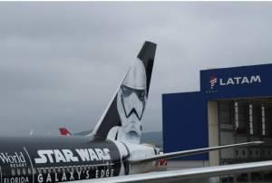 LATAM's 'Stormtrooper Plane' lands in São Paulo, Brazil
