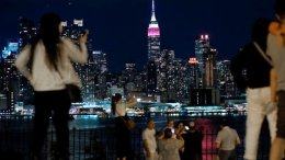 Qatar Airways lights up Empire State Building in burgundy 45