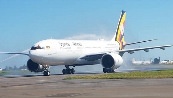 First Uganda Airlines Airbus 330-800 touches down in Entebbe 9