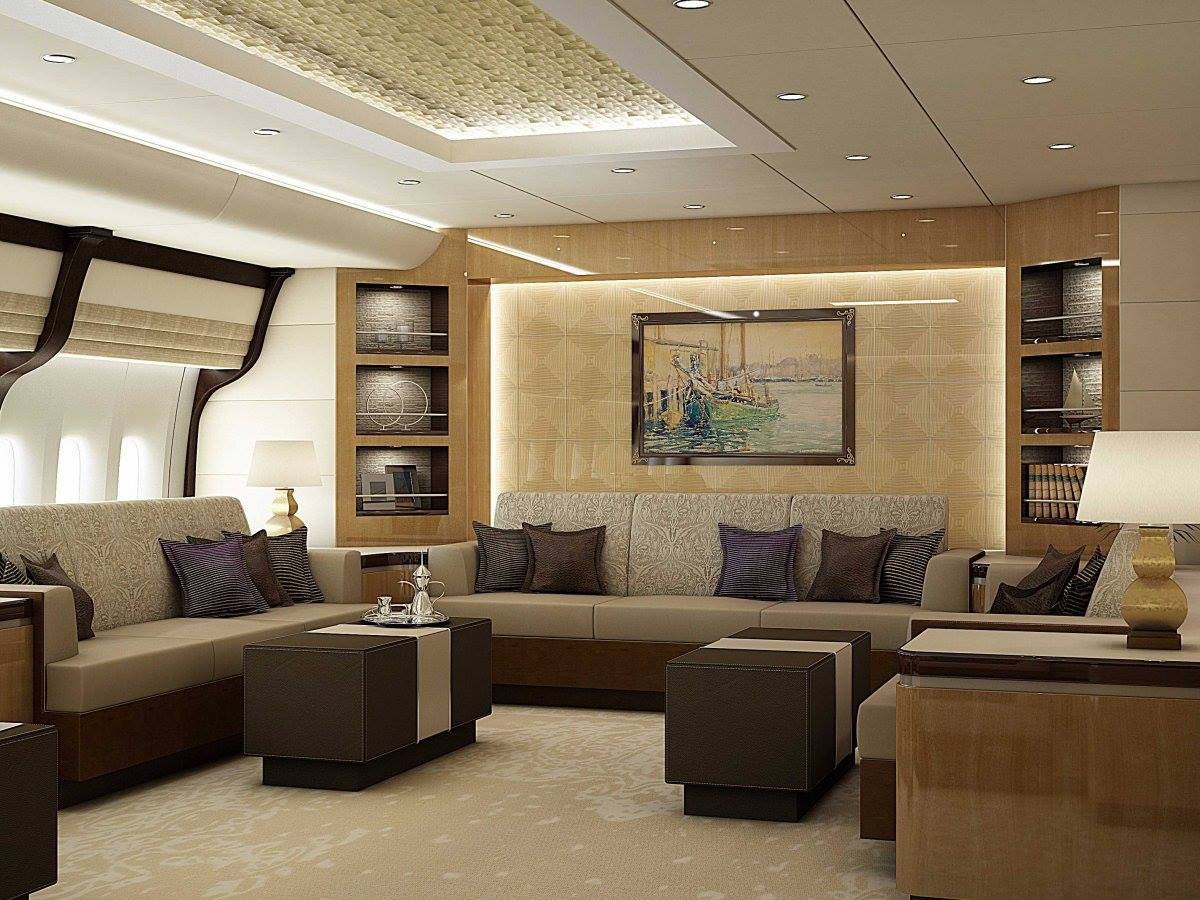 Inside Of Boeing 747-8 Private Jet