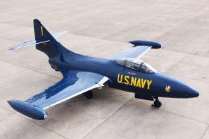 Grumman F9F-5 Panther on loan from the National Naval Aviation Museum