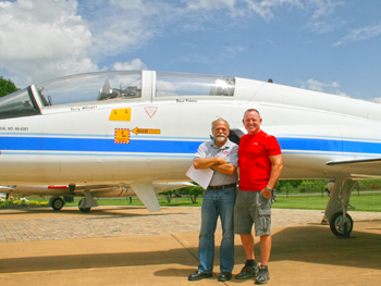 AHP President Bob Pitchford and Astronaut Barry Wilmore