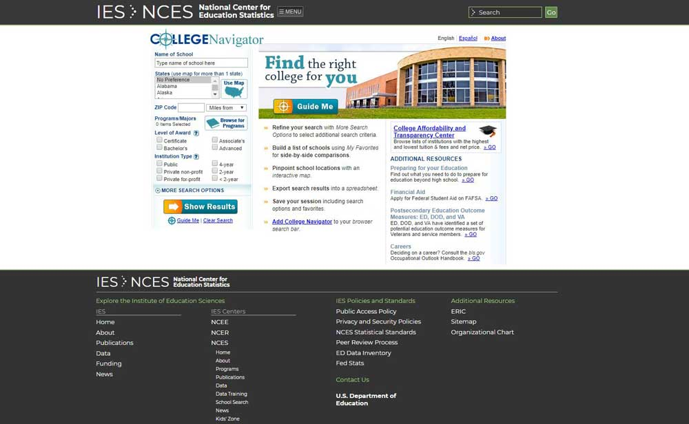 NCES Website