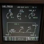 Airbus ECAM System Display - Cabin Pressurization