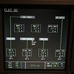 Airbus ECAM System Display - ELEC DC