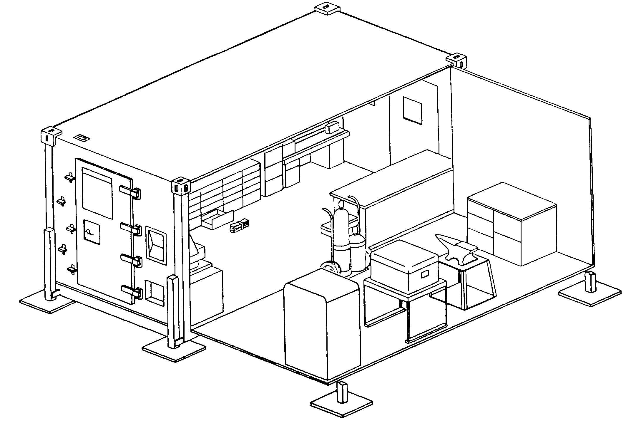 Figure 2 1 Temporary Shop Layout