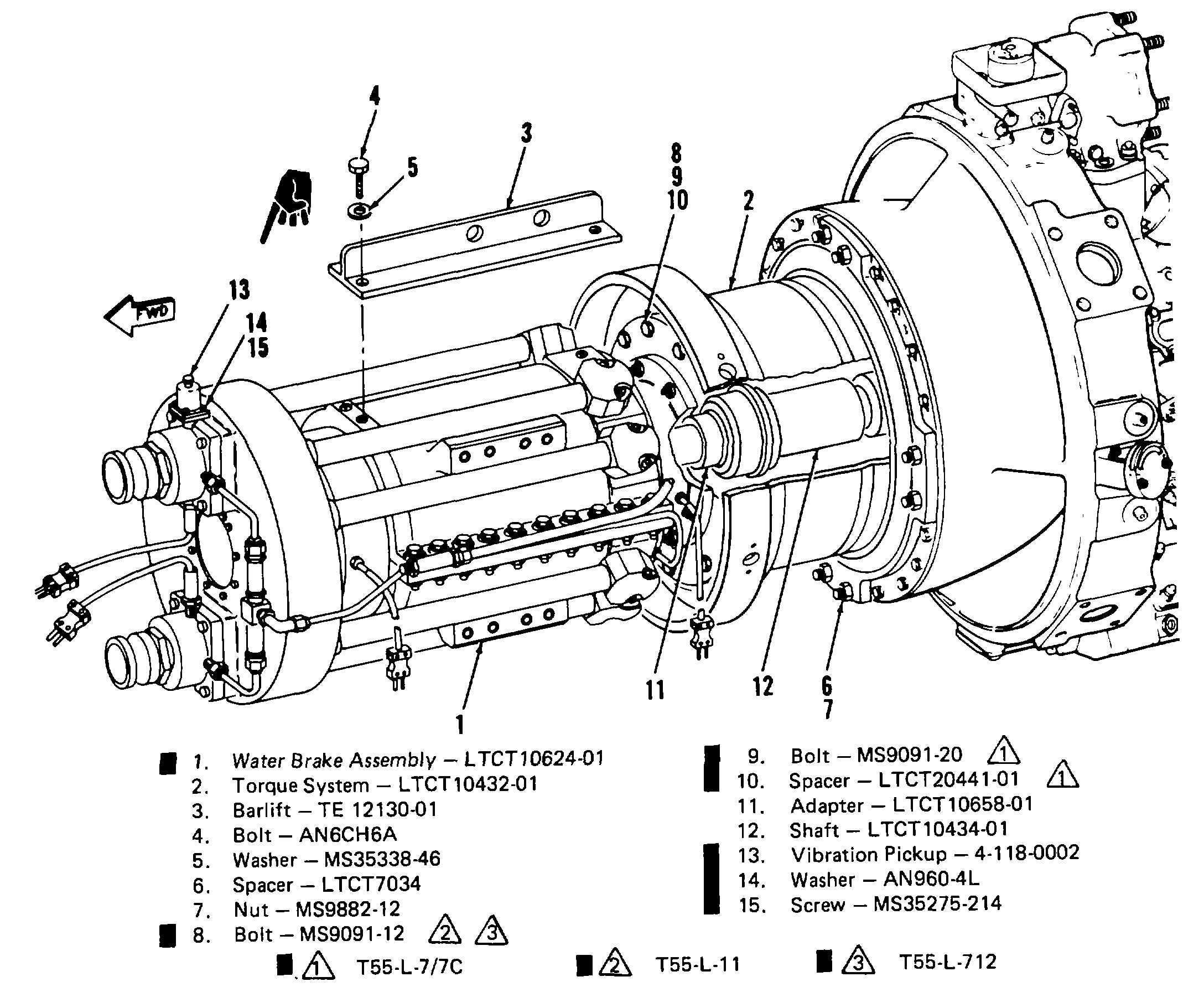 T55 Turboshaft Engine