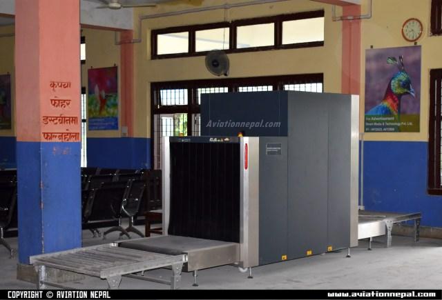 X-ray Machine at Chandragadi Airport-aviationnepal.com