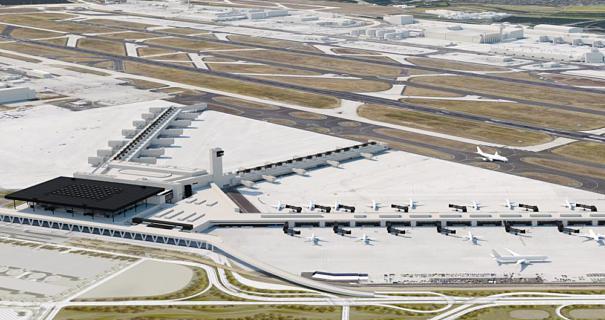 Fraport erhält Baugenehmigung für Flugsteig G (rechts unten).