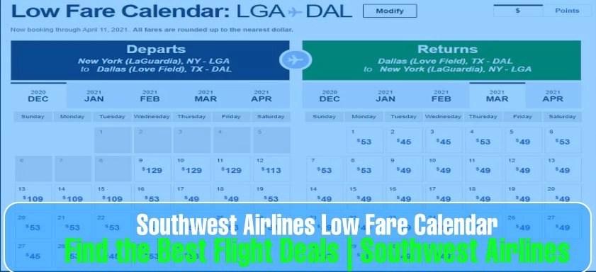 Southwest Low Fare Calendar: Find the Best Flight Deals – Aviationrepublic
