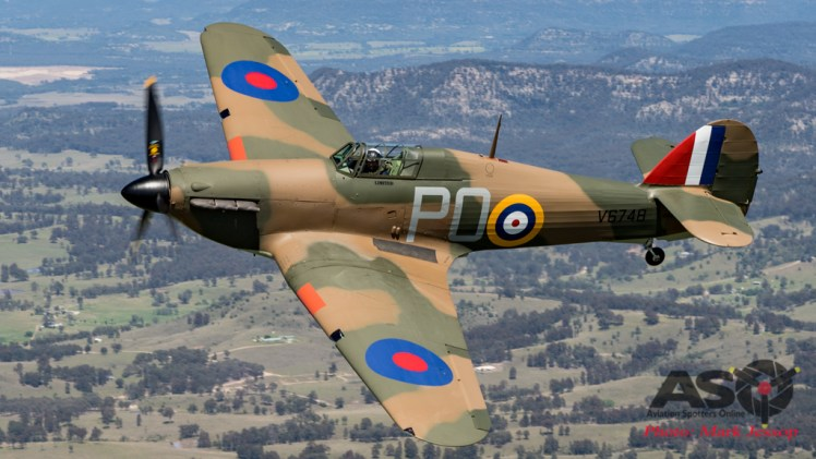 Hawker Hurricane 1st fight in Australia for 70 years.