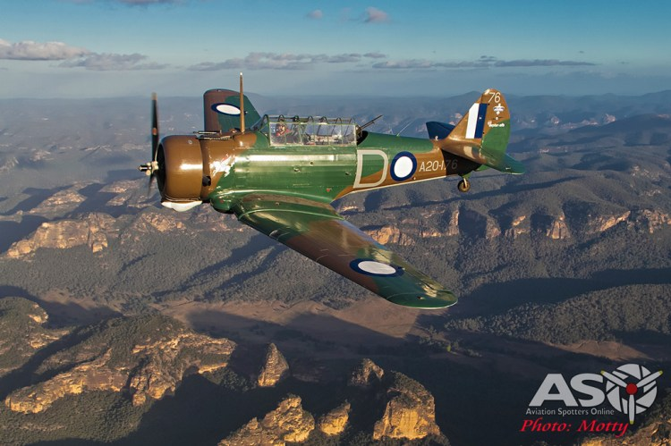 Mottys Paul Bennet Airshows Wirraway VH-WWY A2A 0130-ASO