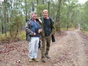 Tom with record-breaking birder John Weigel