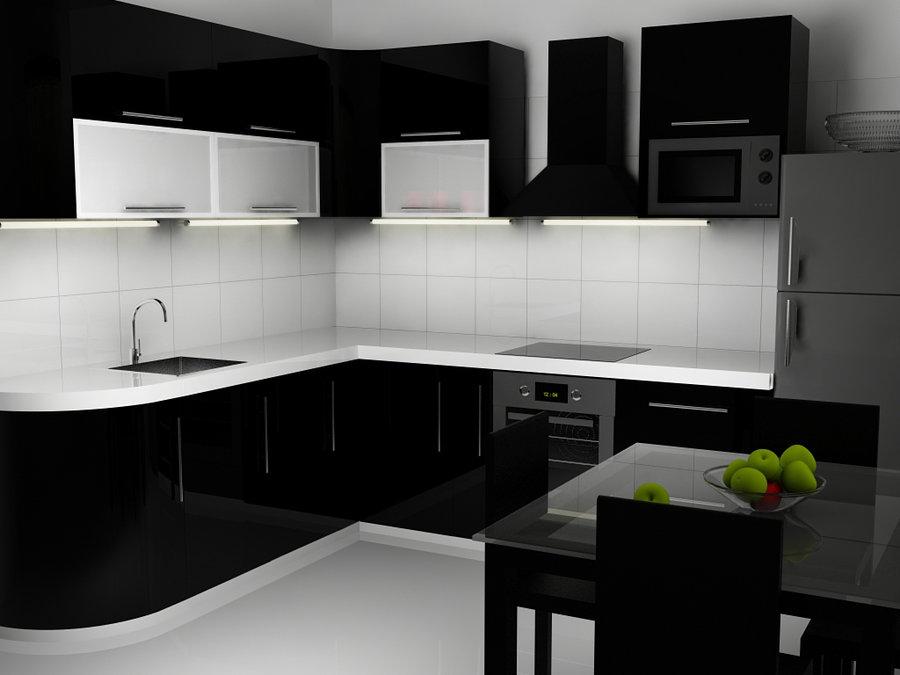 Desain Dapur Minimalis Nuansa Hitam Putih Perusahaan Kontraktor