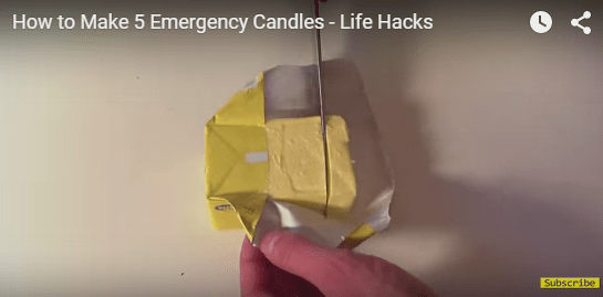 Butter Emergency Candles