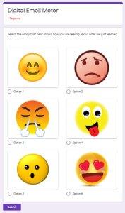 Google Forms Digital Emoji Meter