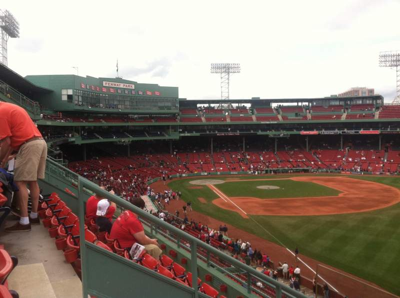 Fenway Park Section Right Field Roof Deck Box 31 Row D