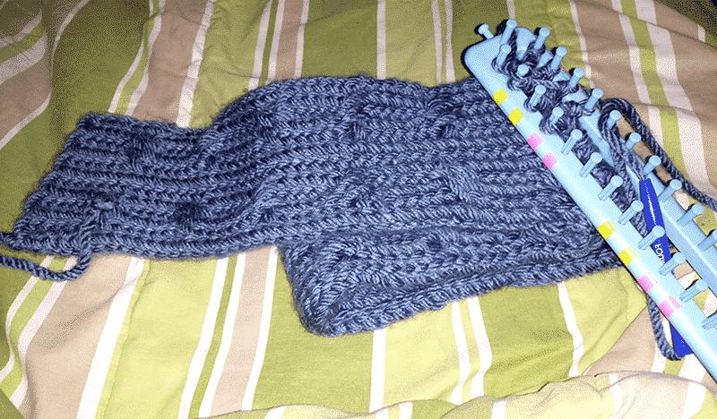Lake Blue Cable Knit Scarf
