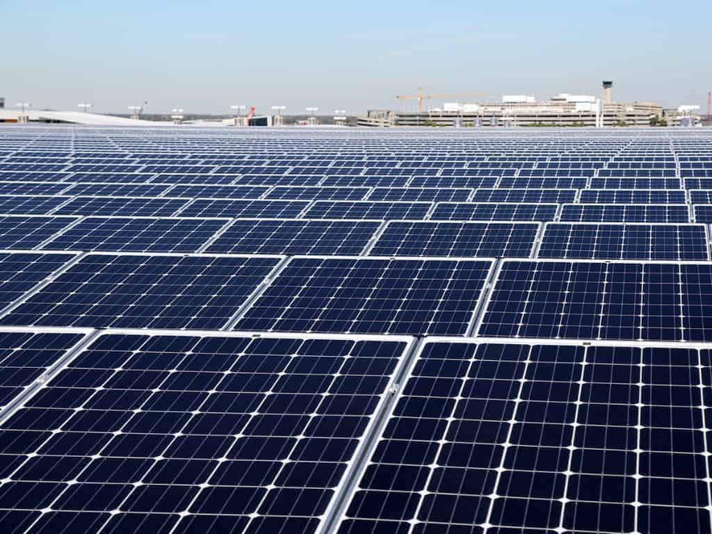 above view of tampa international airport 2 megawatt solar pv carport