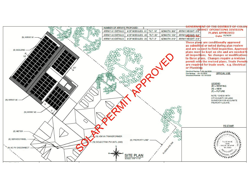 solar drafting and permit for residential home