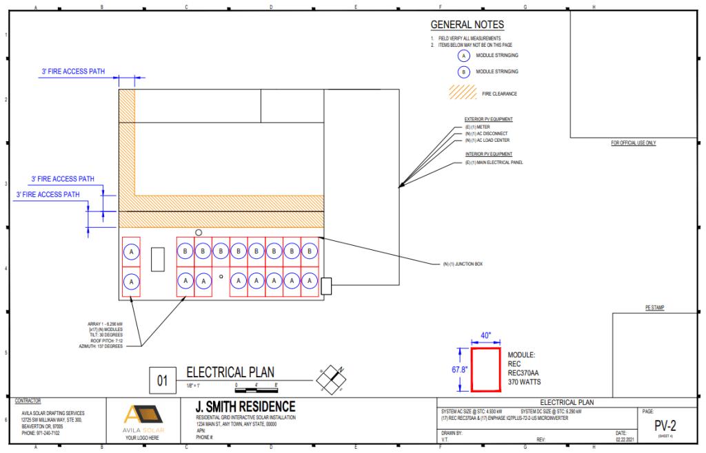 Residential Solar Plan Set Example