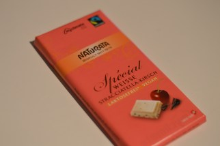 white Stracciatella-Cherry Chocolate from Naturata