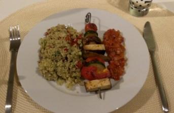 Vegan for Fun - Shashlik and Couscous Salad, Attila Hildmann, vegan, recipe