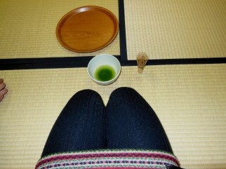 Matcha at a tea ceremony in Kyoto