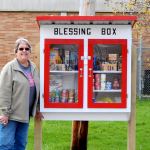 Deb Carmicheal with Blessing Box