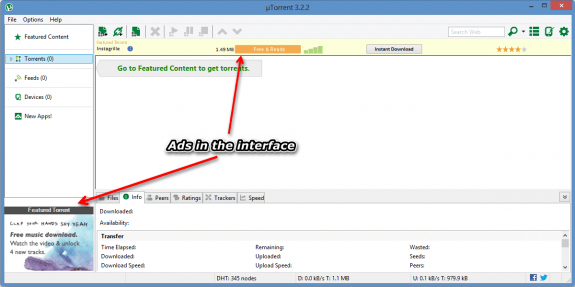 Ads in Utorrent e1353171688969 - How to disable ads in uTorrent