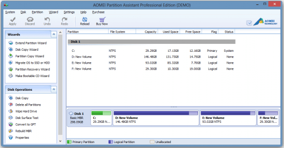 Get AOMEI Partition Assistant Professional Edition for free 1