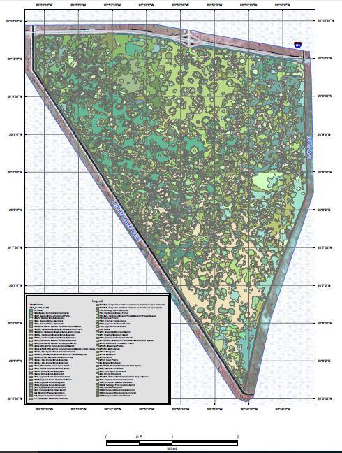 Classification de la végétation de la réserve fédérale d'Alligator Alley de la tribu des Miccosukee