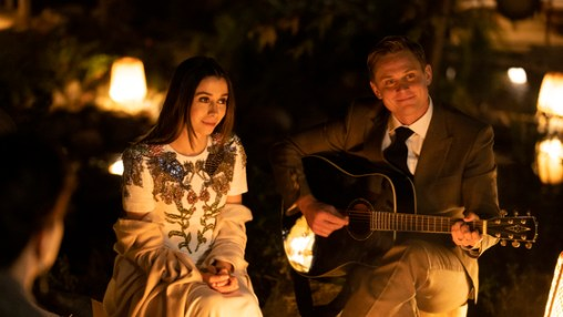 Hazel Green (Cristin Milioti) and  Byron Gogol (Billy Magnussen) characters in Made For Love