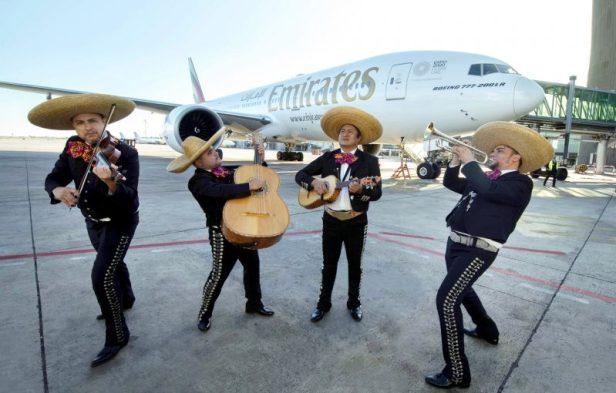 Emirates inaugura los vuelos entre Barcelona y Mexico