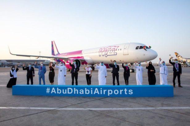 Llegada del primer avion de Wizz Air a Abu Dhabi