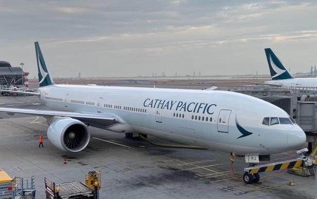 Boeing 777 de Cathay Pacific en el Aeropuerto de Hong Kong (HKG)